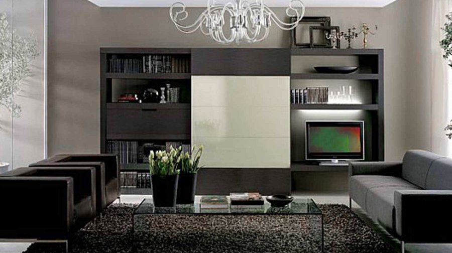 Dark Colors Living Room