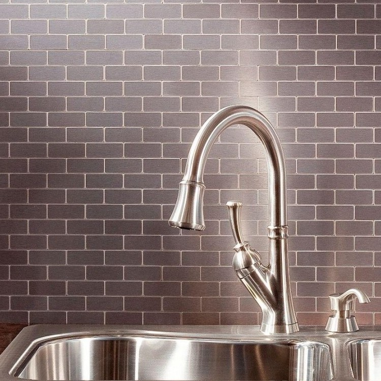 Stainless Steel Backsplash Home Depot