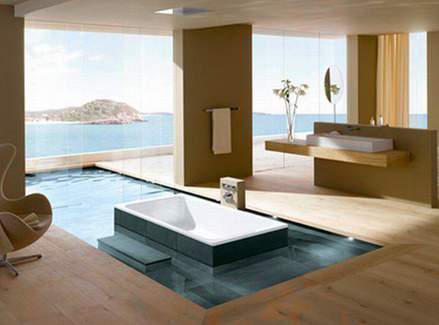 Bathroom with Big Windows and Fantastic View