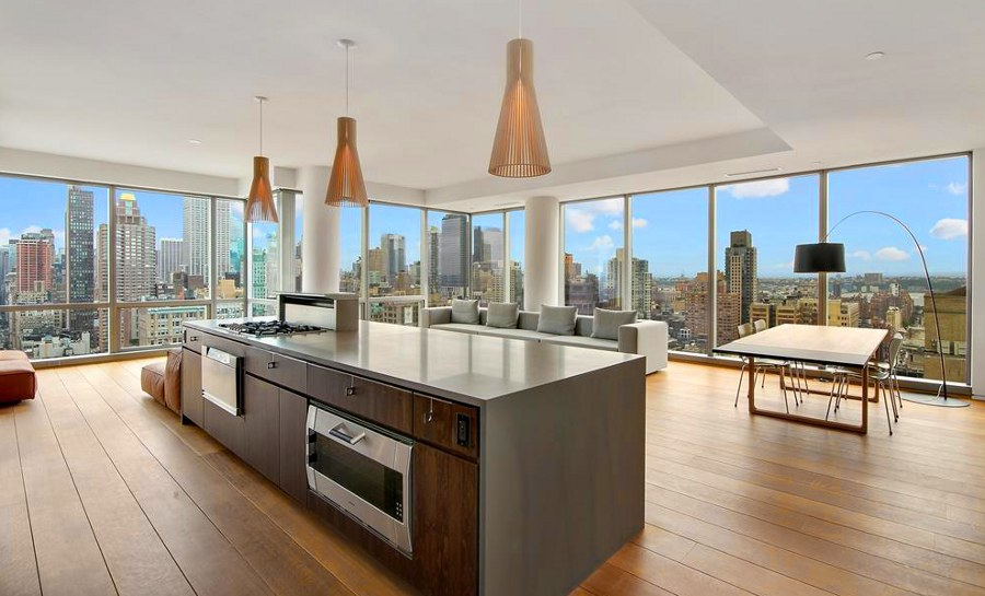Kitchen with City View