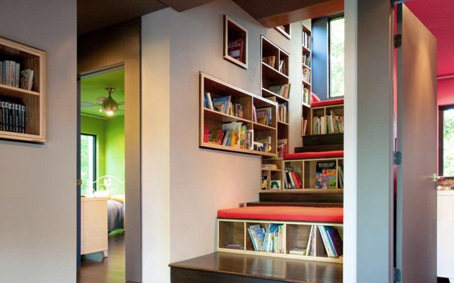 Staircase Storage Bookshelf