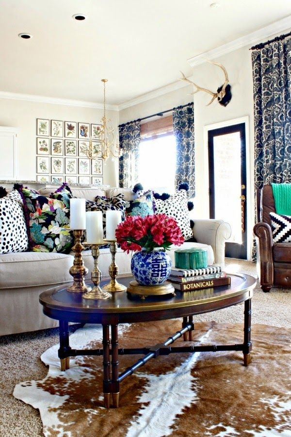 6 big impact decor ideas for renters for Eclectic living room design ideas