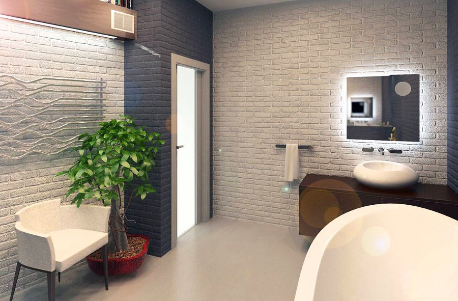 Elegant Design What Bathroom Tile Goes Well With Exposed Brick Walls Quora