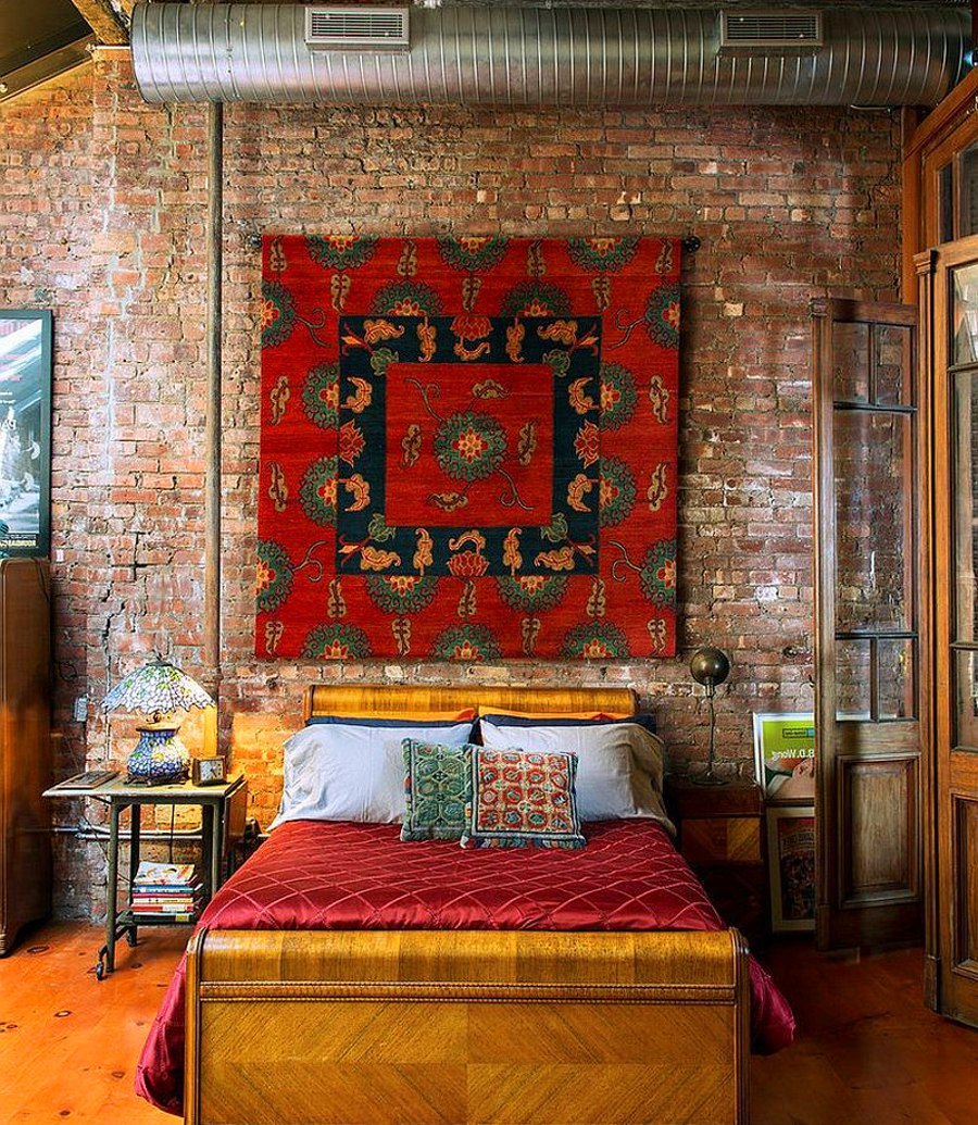 17 surprisingly versatile interior brick wall designs Brick wall bedroom design