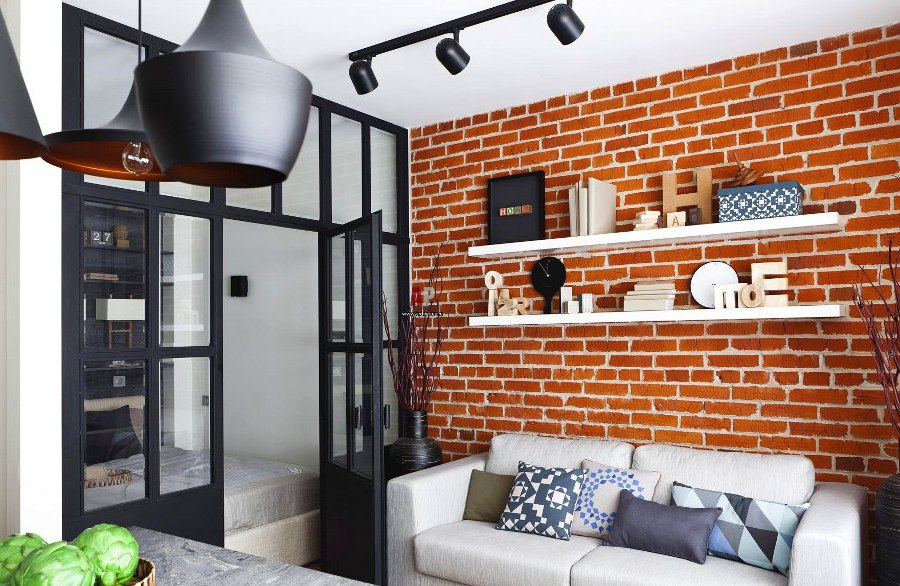 17 surprisingly versatile interior brick wall designs for How to decorate a brick wall