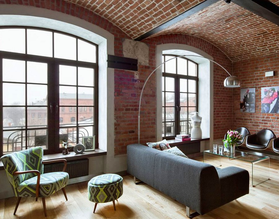 Living Room Design Brick Wall Interior Red Bricks Walls Are Usually A Feature Of Interior Design In Lofts