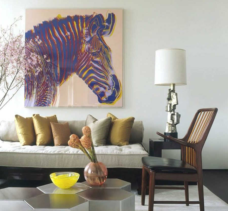 Zebra painting for Zebra decorations for home