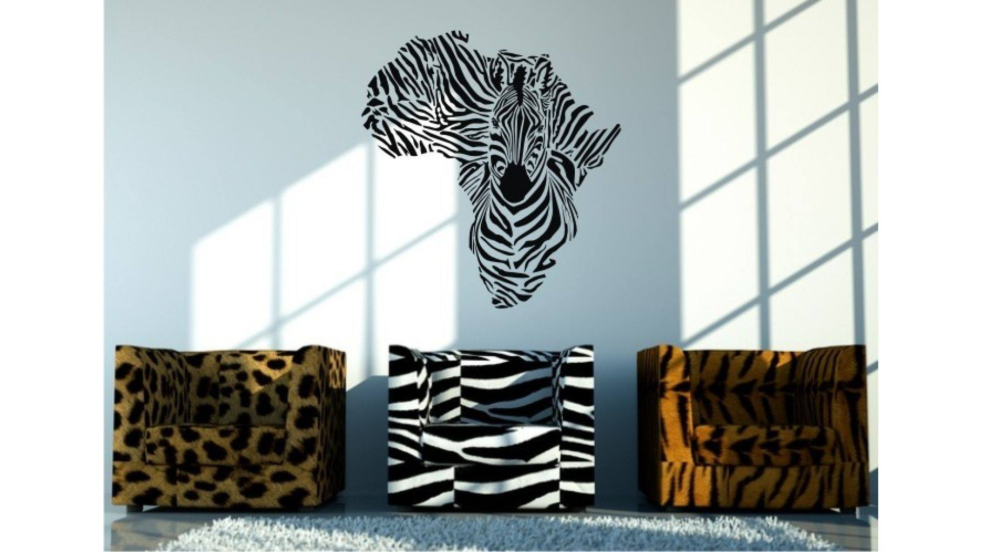 Zebra wall art for Zebra decorations for home