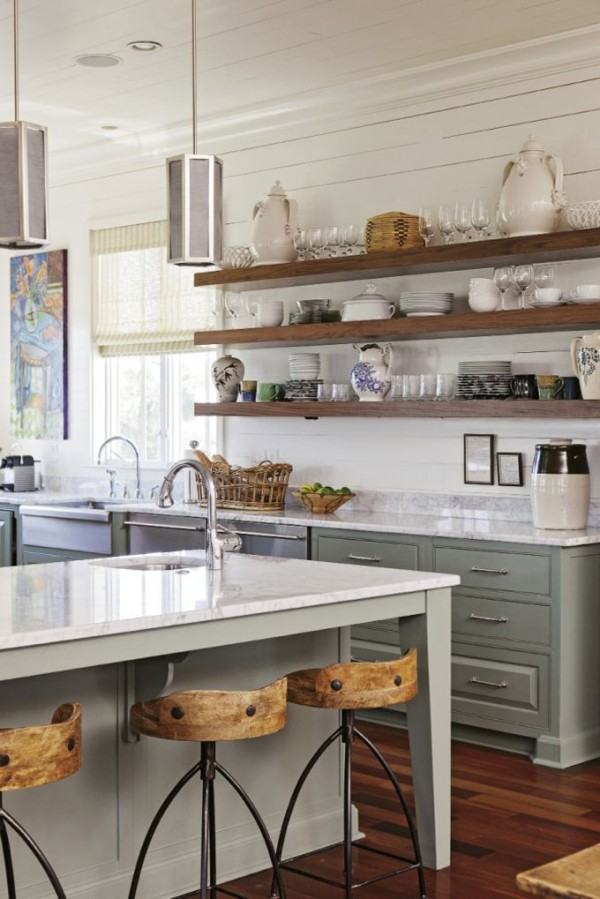25 Open Shelf Ideas To Make Your Kitchen More Spacious Than It Really Is