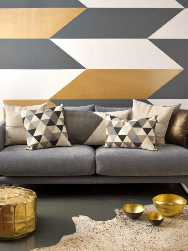 Shape up your space with geometric decor for Geometric paint designs