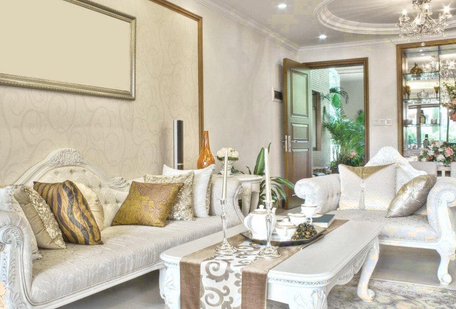 Elegant French Home Design Soft Patterns