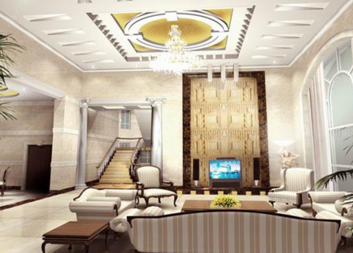 Top 3 most popular ceiling designs for living room for How to design a living room
