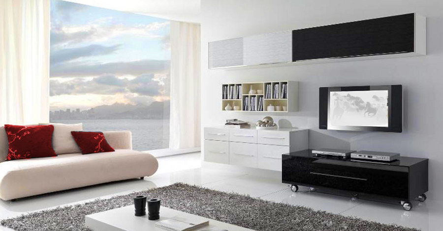 White Colors Living Room