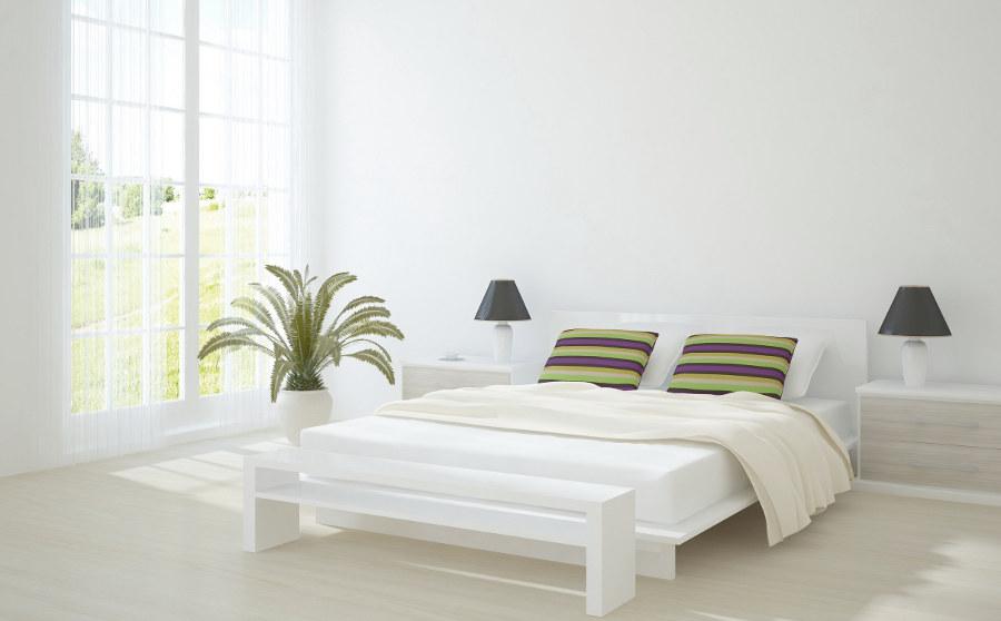 Crisp White Bedroom