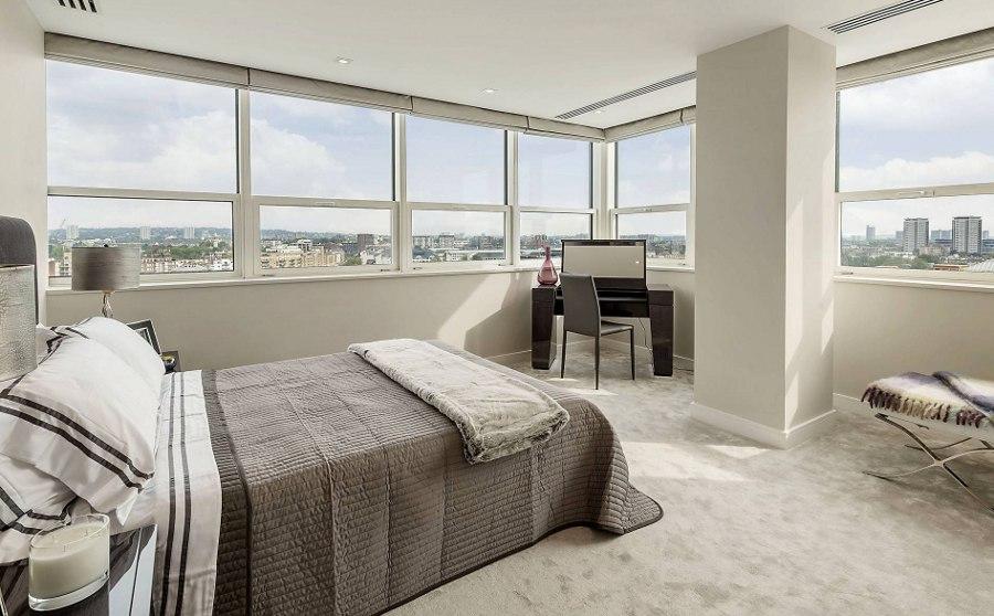 White Grey Modern Bedroom