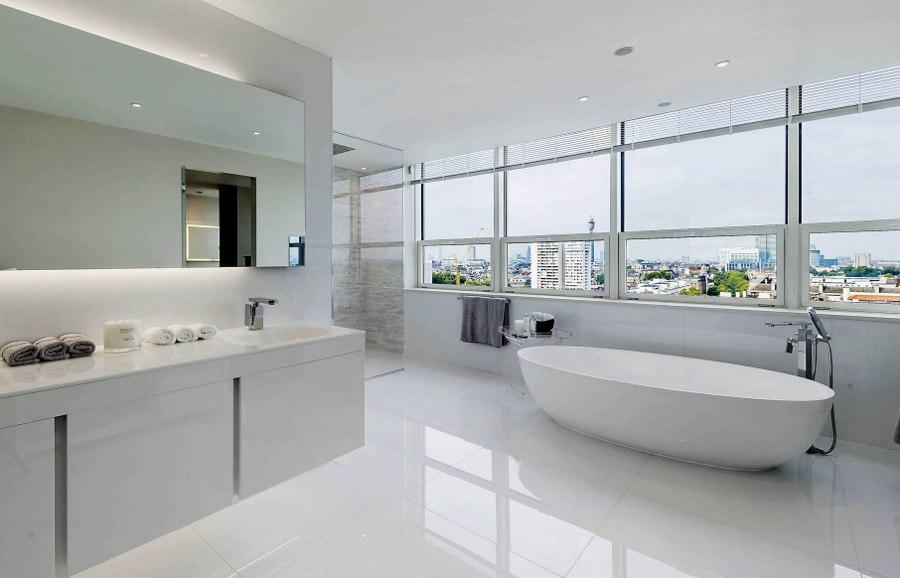 Modern Design White Bathroom