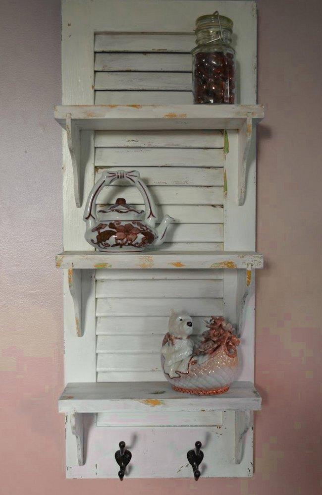 Old Shutter Shelf