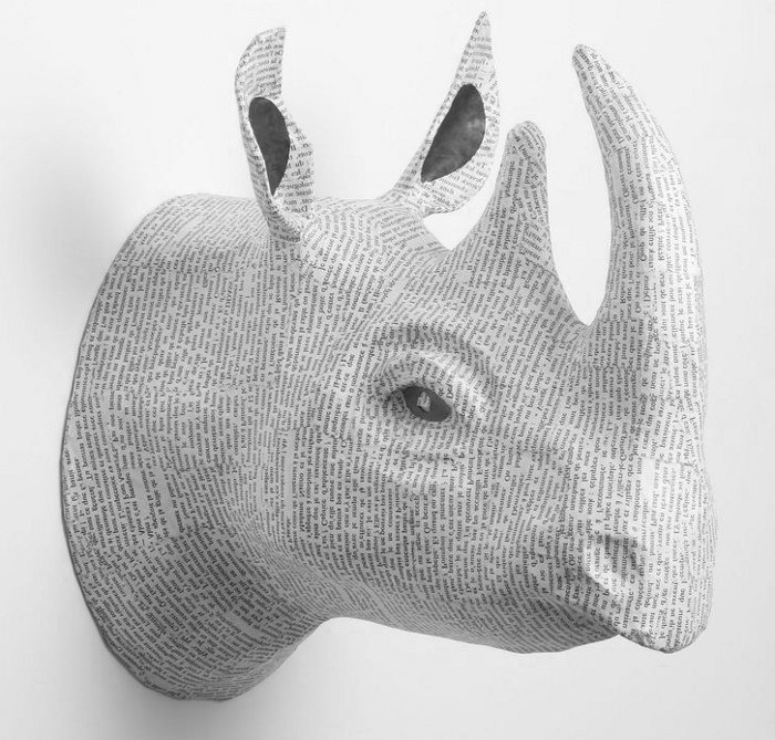 Paper Animal Head Wall Art