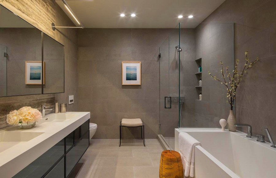 Beautiful Grey Bathroom Decoration