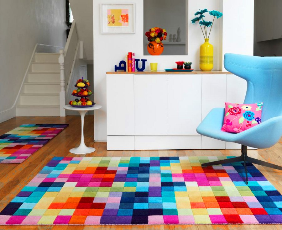 Colored Contemporary Rug
