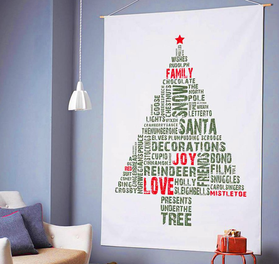 Christmas Tree Canvas Tags