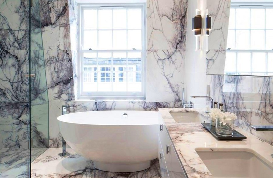 Granite Bathroom with Bathtub