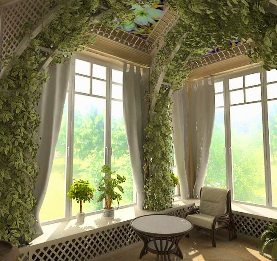 Wall and Ceiling Decor with Plants