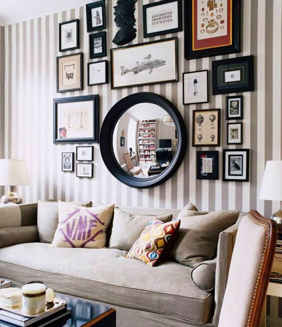 Picture Wall with a Mirror