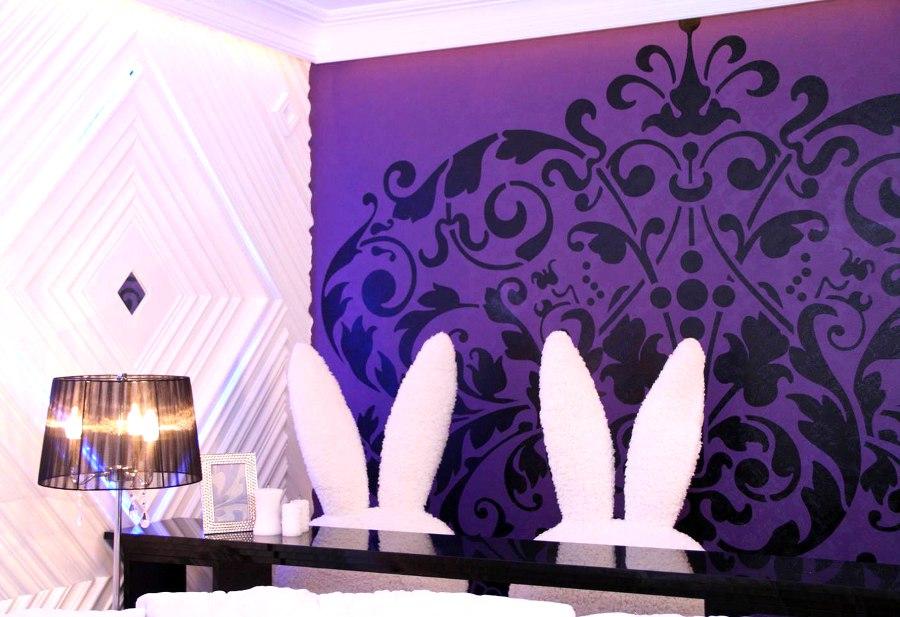 Purple Floral Wall Art
