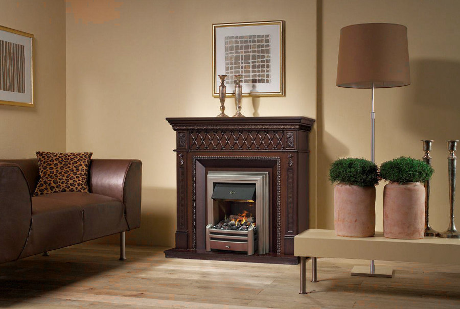 Small Decorated Fireplace