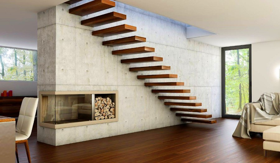 Suspended Cabin Staircase