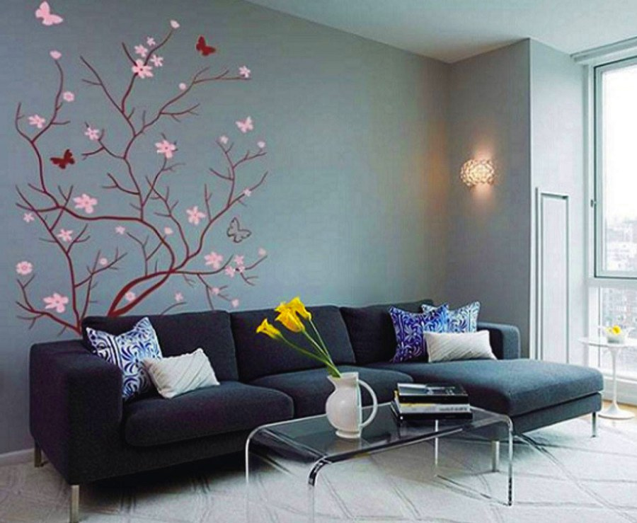 Tree and Butterfly Wall Art