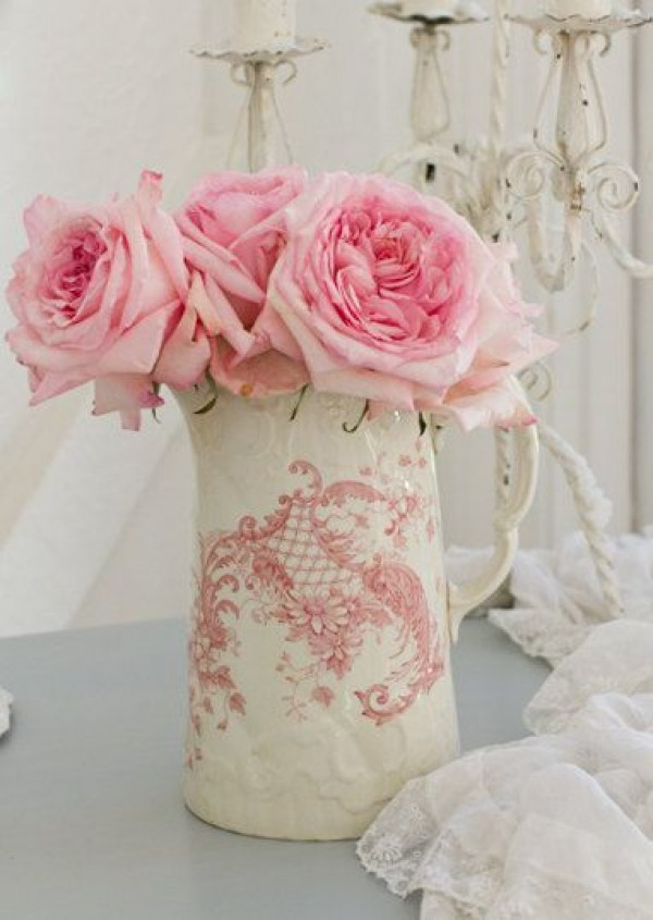 Antique Vase Rose Unique