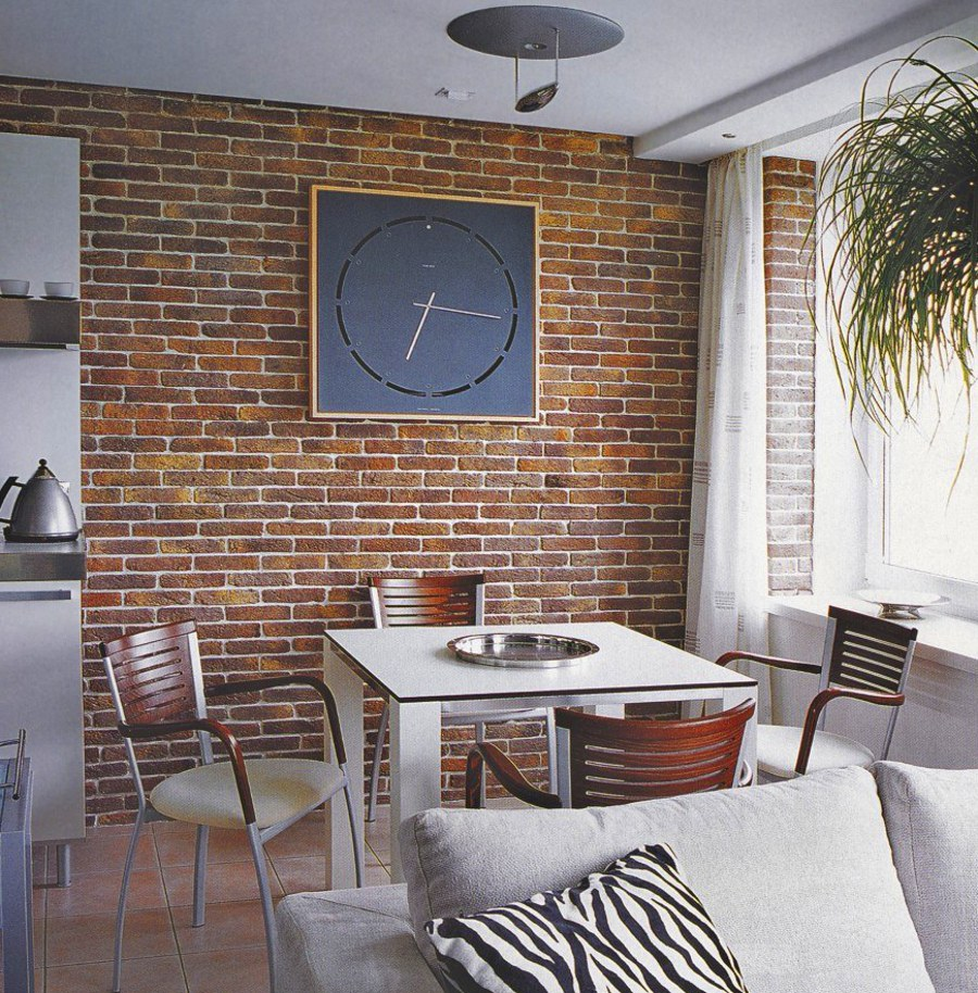 Brick Wall Dining Area