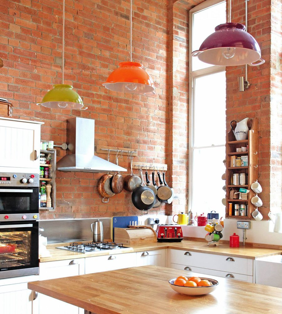 Brick Wallpaper Kitchen