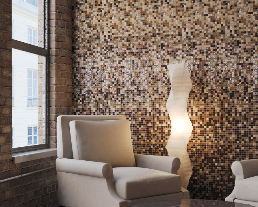Brown Living Room Mosaic