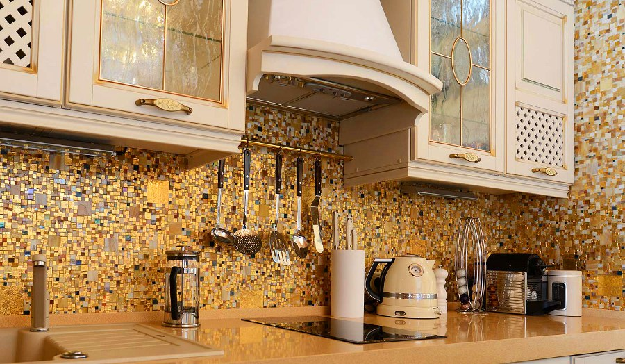Golden Kitchen Mosaic