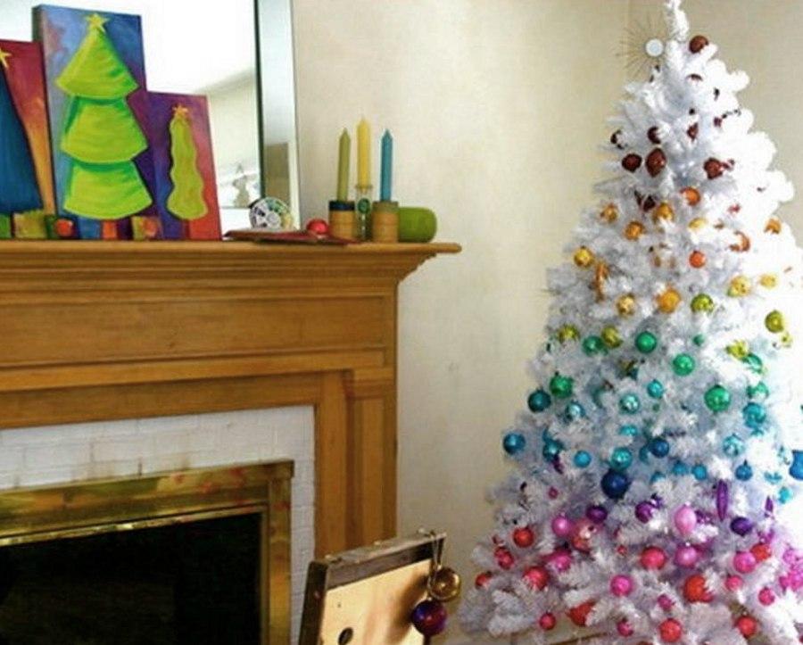 gradient christmas tree