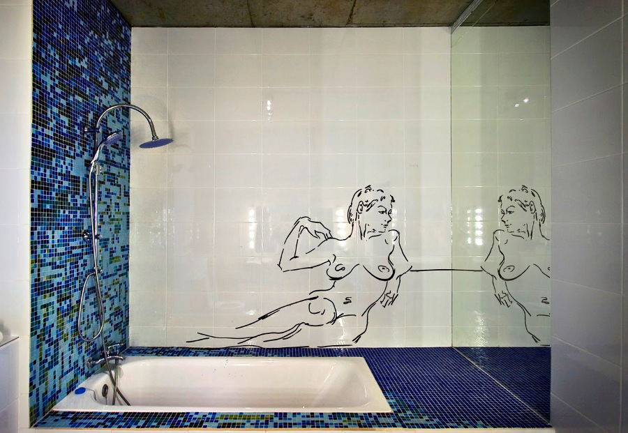 mosaic wall art bath