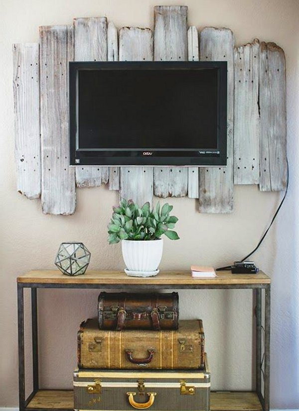 Vintage rustic tv decor