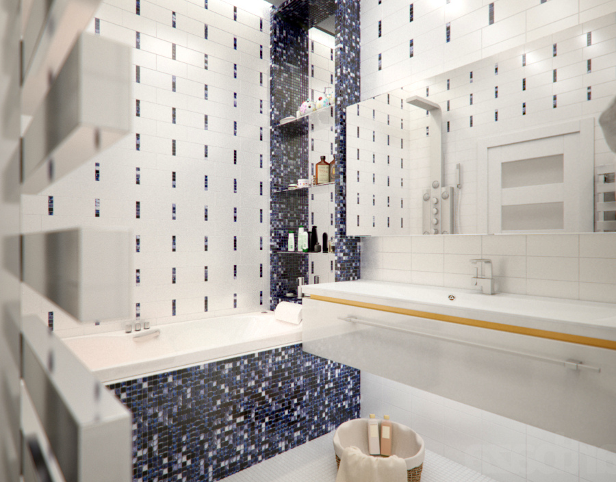 White Bathroom Mosaic