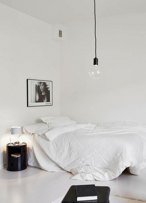 White with rough walls