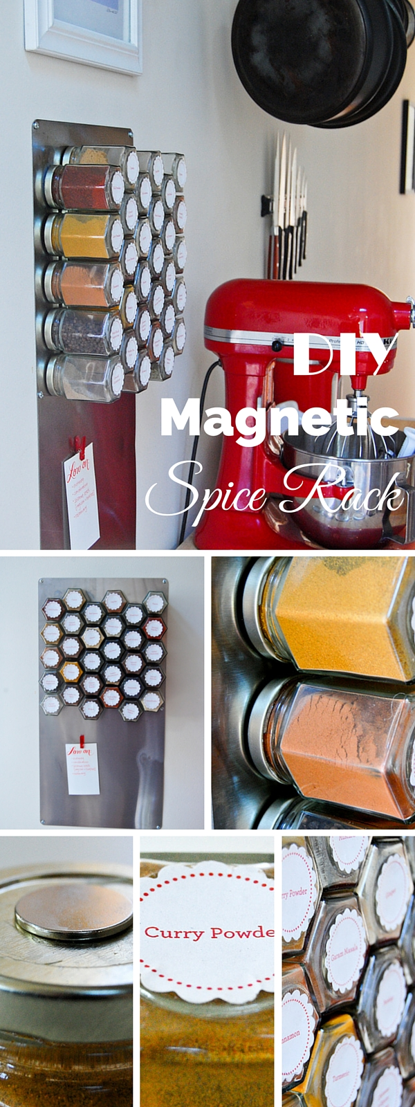 Check out this easy idea on how to make a  magnetic spice rack for