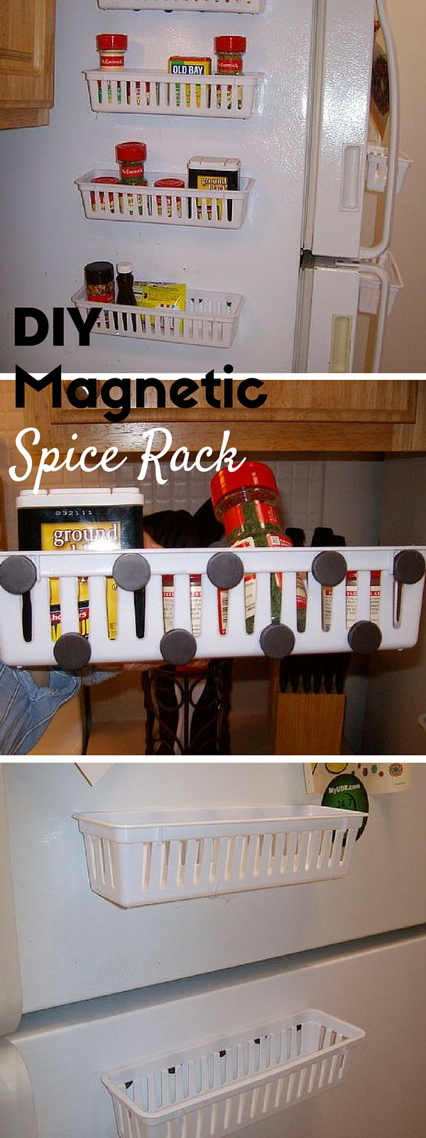 Check out the tutorial:  Magnetic Spice Rack