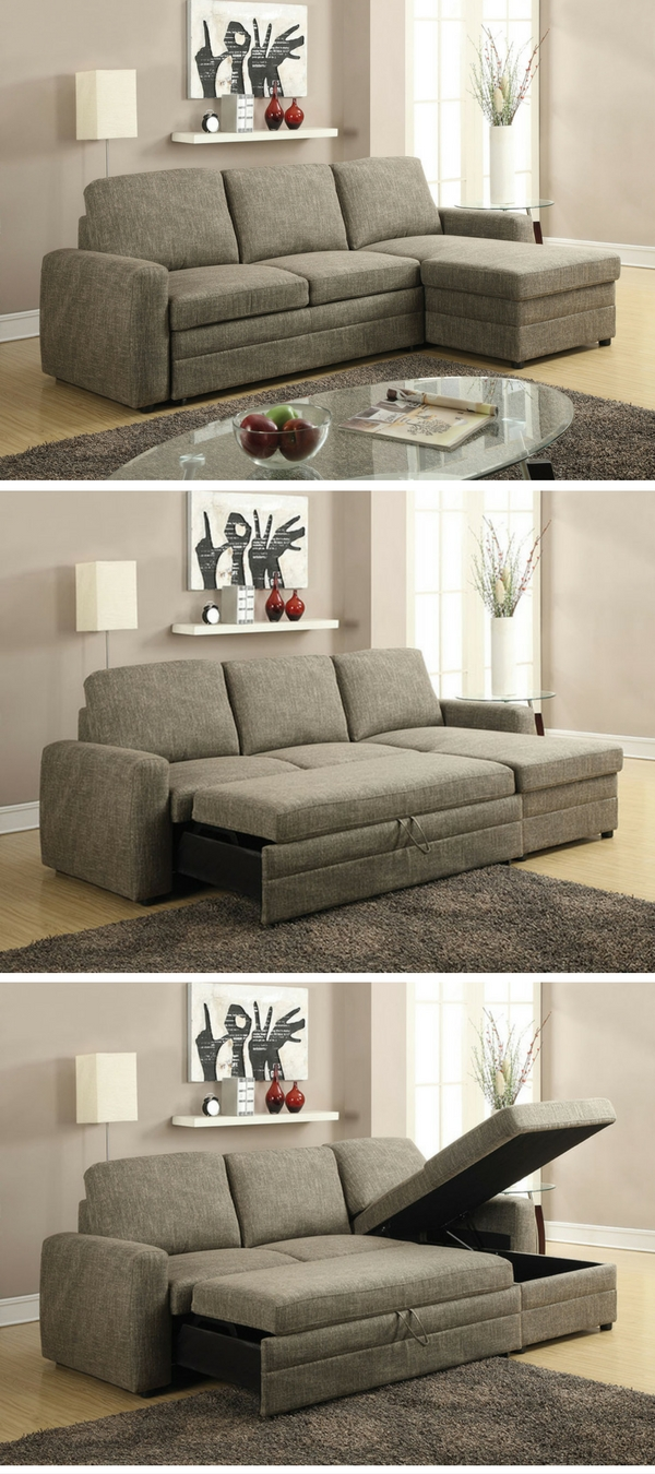 Check out the Derwyn Storage Sectional Sleeper Sofa - one of the top 10 best sleeper sofas