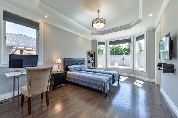 Contemporary master bedroom in Santa Clara, CA