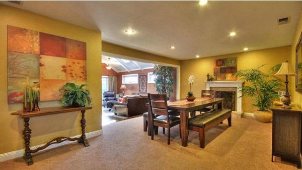 Large living room design in Santa Clara, CA
