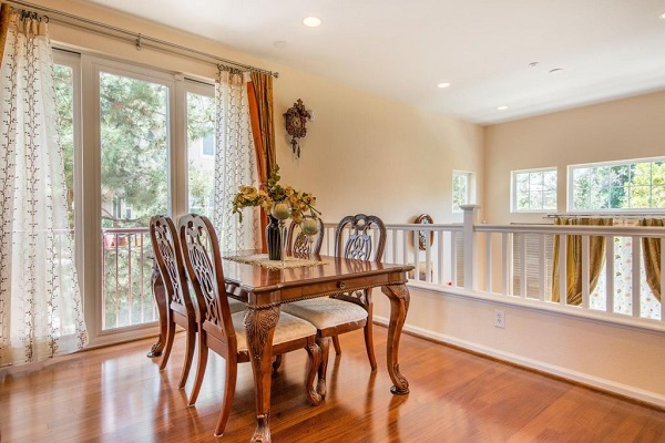 Traditional dining room with hardwood floors in Santa Clara, CA