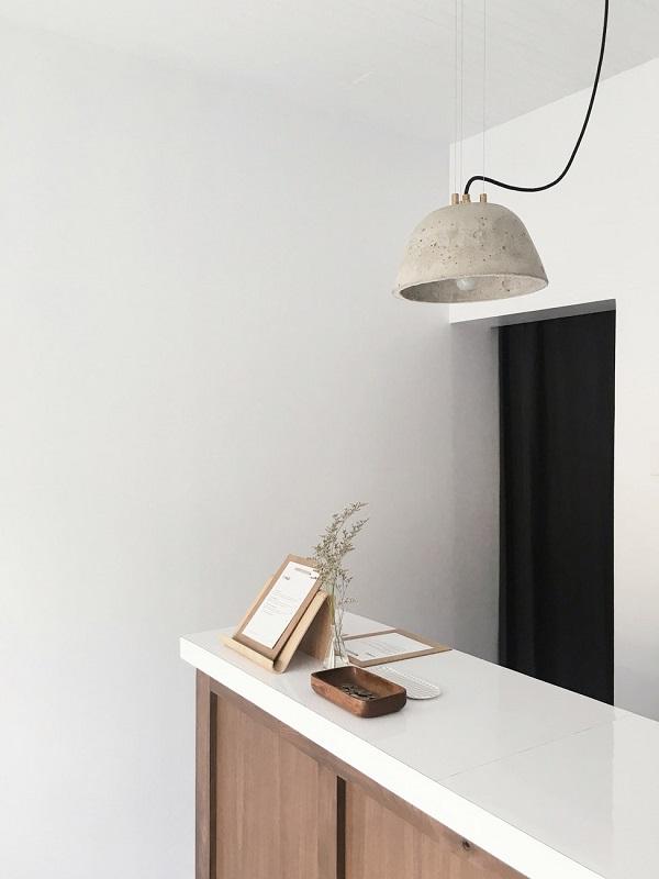 Concrete furniture in kitchen design