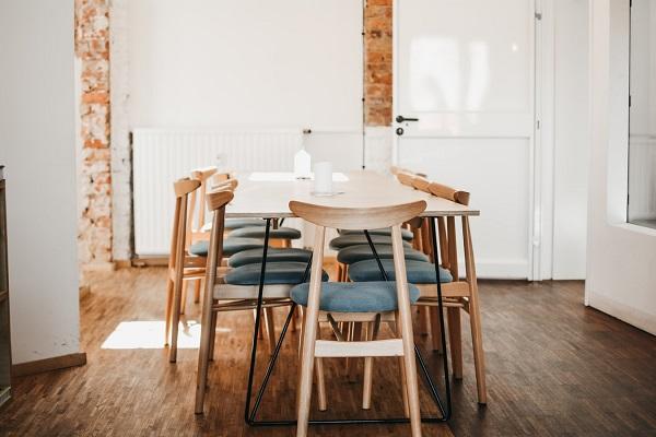 Rustic brick accents in kitchen design
